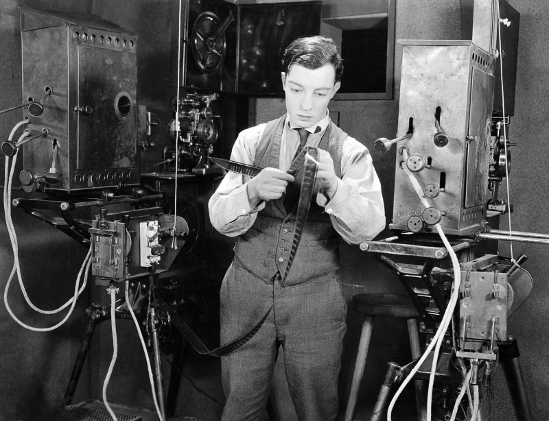 KEATON_1924_Sherlock_Jr_production_still